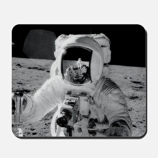 Apollo 12 Astronauts explore the Moon No Mousepad