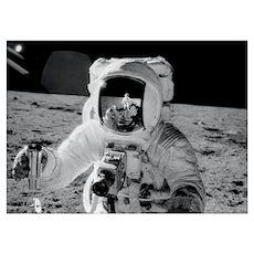Apollo 12 Astronauts explore the Moon November 196 Poster