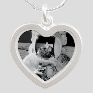 Apollo 12 Astronauts explore Silver Heart Necklace