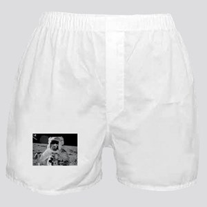 Apollo 12 Astronauts explore the Moon Boxer Shorts