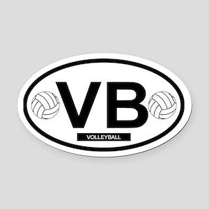 VB4 Oval Car Magnet