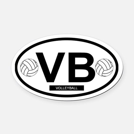 VB4.png Oval Car Magnet