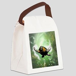 Wonderful seaturtle Canvas Lunch Bag