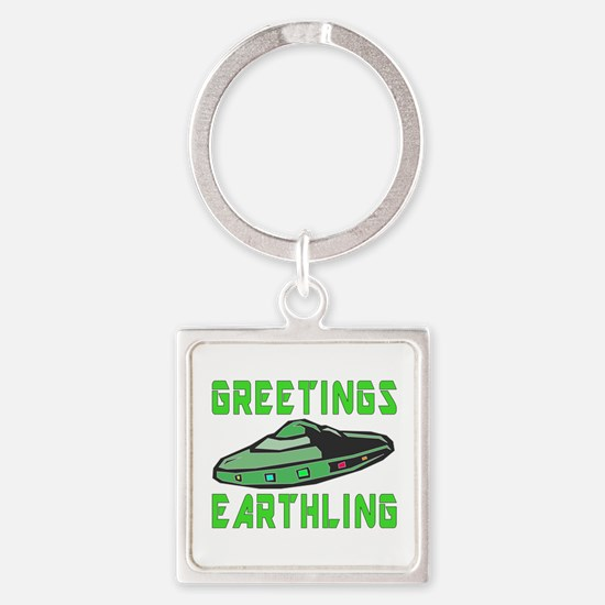 Greetings Earthling Keychains