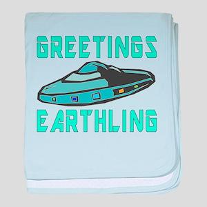 Greetings Earthling baby blanket