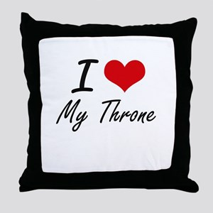 I love My Throne Throw Pillow