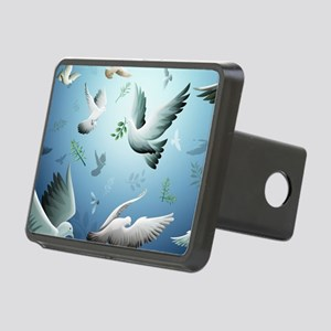 Beautiful Doves Rectangular Hitch Cover