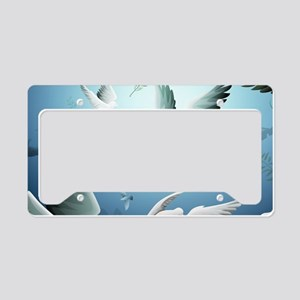 Beautiful Doves License Plate Holder