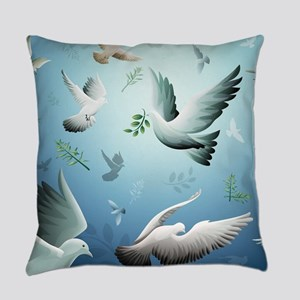 Beautiful Doves Everyday Pillow