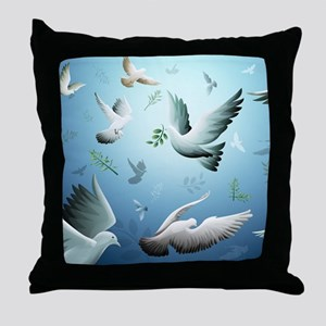 Beautiful Doves Throw Pillow