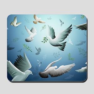 Beautiful Doves Mousepad