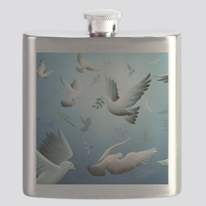 Beautiful Doves Flask