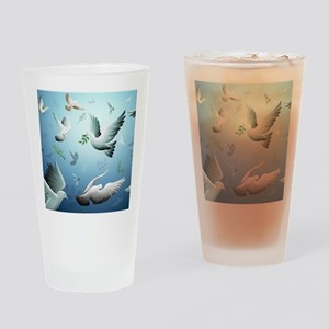 Beautiful Doves Drinking Glass
