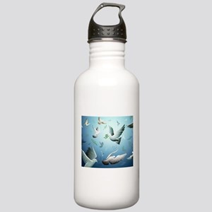 Beautiful Doves Sports Water Bottle