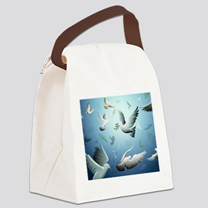 Beautiful Doves Canvas Lunch Bag