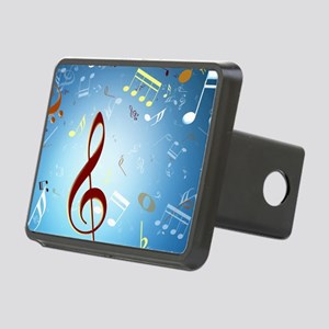 Musical Notes Rectangular Hitch Cover
