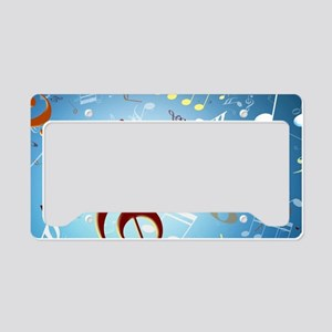 Musical Notes License Plate Holder