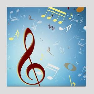 Musical Notes Tile Coaster