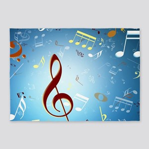 Musical Notes 5'x7'Area Rug