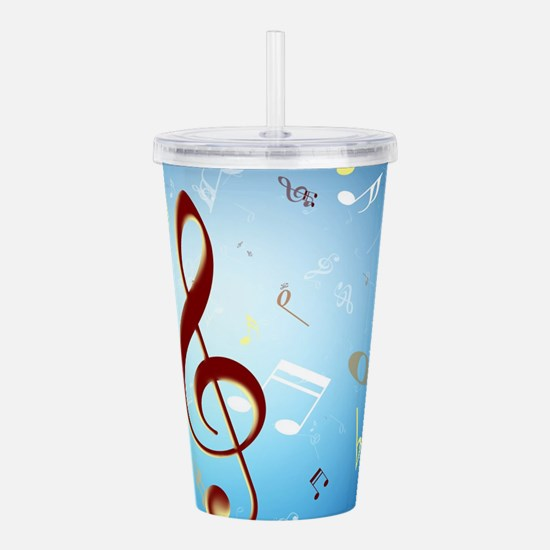 Musical Notes Acrylic Double-wall Tumbler