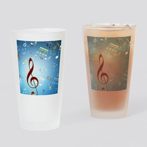 Musical Notes Drinking Glass