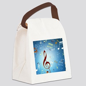 Musical Notes Canvas Lunch Bag