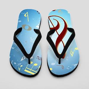 Musical Notes Flip Flops