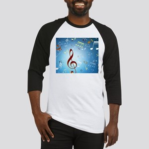 Musical Notes Baseball Jersey
