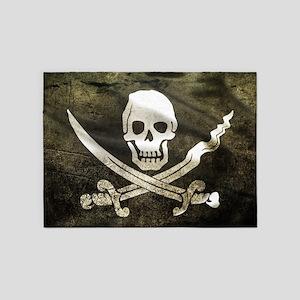 Pirate Flag 5'x7'Area Rug