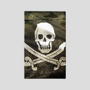 Pirate Flag Area Rug