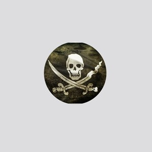 Pirate Flag Mini Button