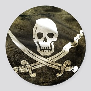Pirate Flag Round Car Magnet