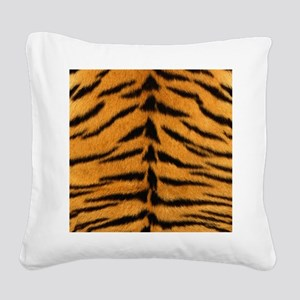 Tiger Fur Square Canvas Pillow
