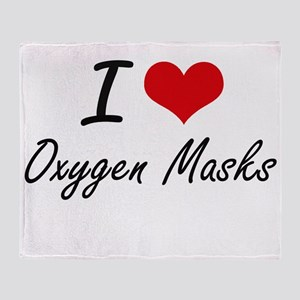 I love Oxygen Masks Throw Blanket