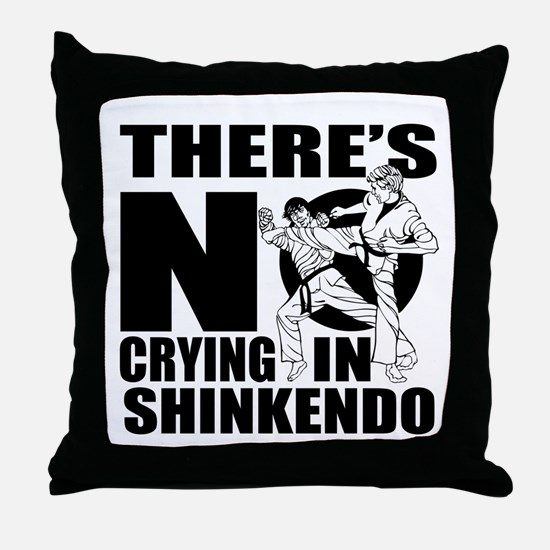 There Is No Crying In Shinkendo Throw Pillow