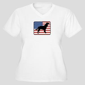 American Water Spaniel Women's Plus Size V-Neck T-