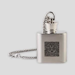 Polygon Sugarskull Flask Necklace