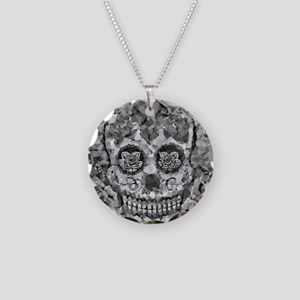 Polygon Sugarskull Necklace Circle Charm