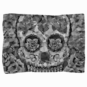 Polygon Sugarskull Pillow Sham