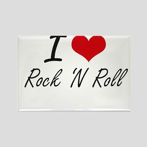 I love Rock 'N Roll Magnets