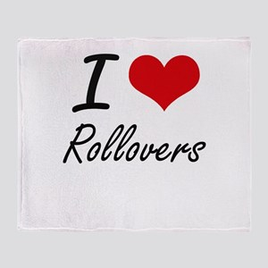 I love Rollovers Throw Blanket