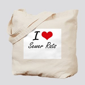 I love Sewer Rats Tote Bag