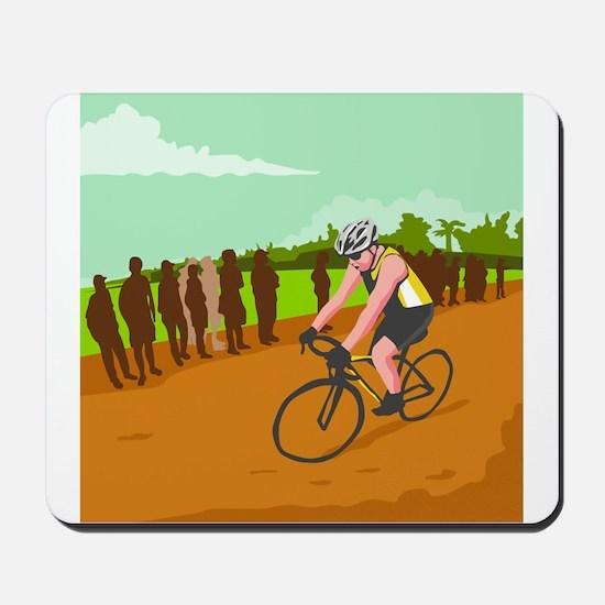 Cyclist Racing WPA Mousepad