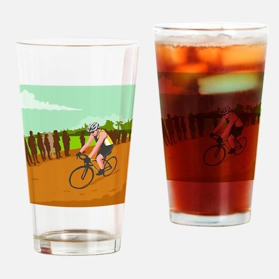 Cyclist Racing WPA Drinking Glass