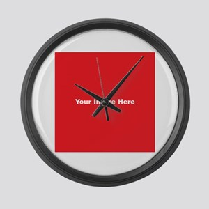 Your Image Here Large Wall Clock