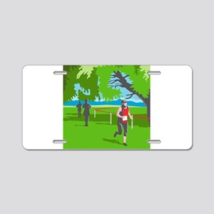 Marathon Runner Running WPA Aluminum License Plate