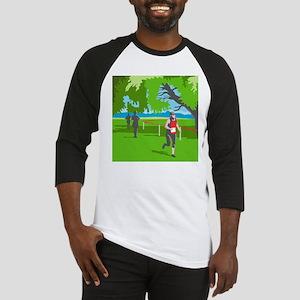 Marathon Runner Running WPA Baseball Jersey