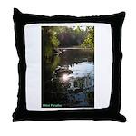 Otter Paradise Throw Pillow
