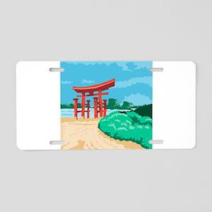 Torii Japanese Gate WPA Aluminum License Plate