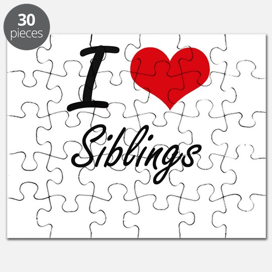 I love Siblings Puzzle